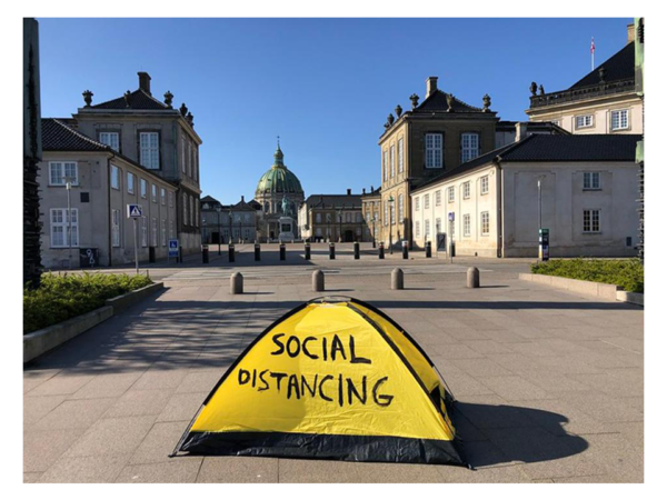 Thierry Geoffroy - Social Distancing - COVID-19 art