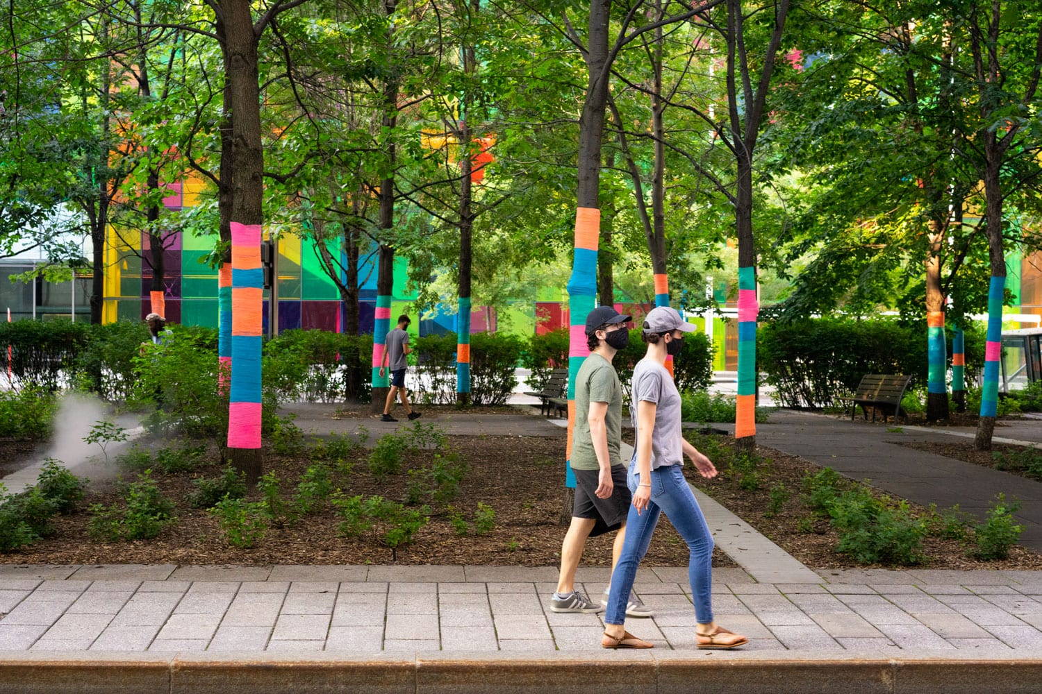 Public Art & Design Installation - Montreal - Public Park - Placemaking / MASSIVart & Judith Portier / Photo by Olivier Blouin