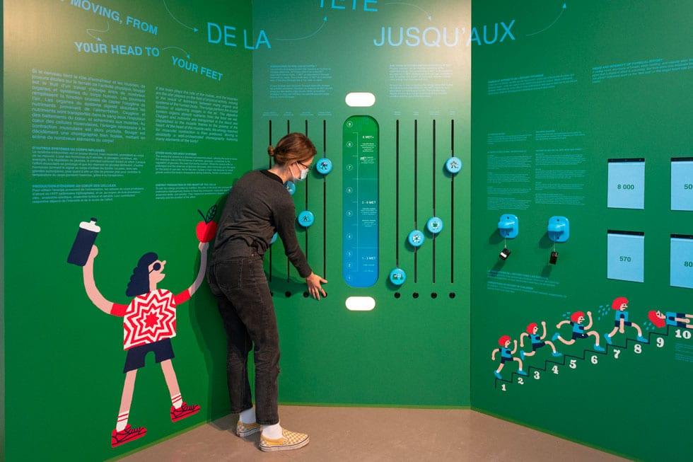 Musée Armand Frappier Laval - Exposition Bouger - Exhibition Design by MASSIVart