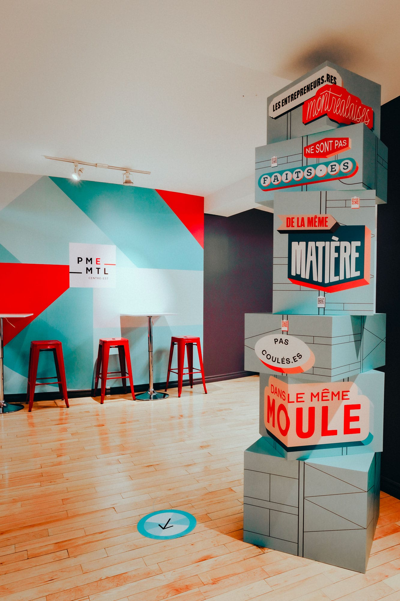 Office Space Design - PME MTL - Interactive Mural by MASSIVart and Paprika