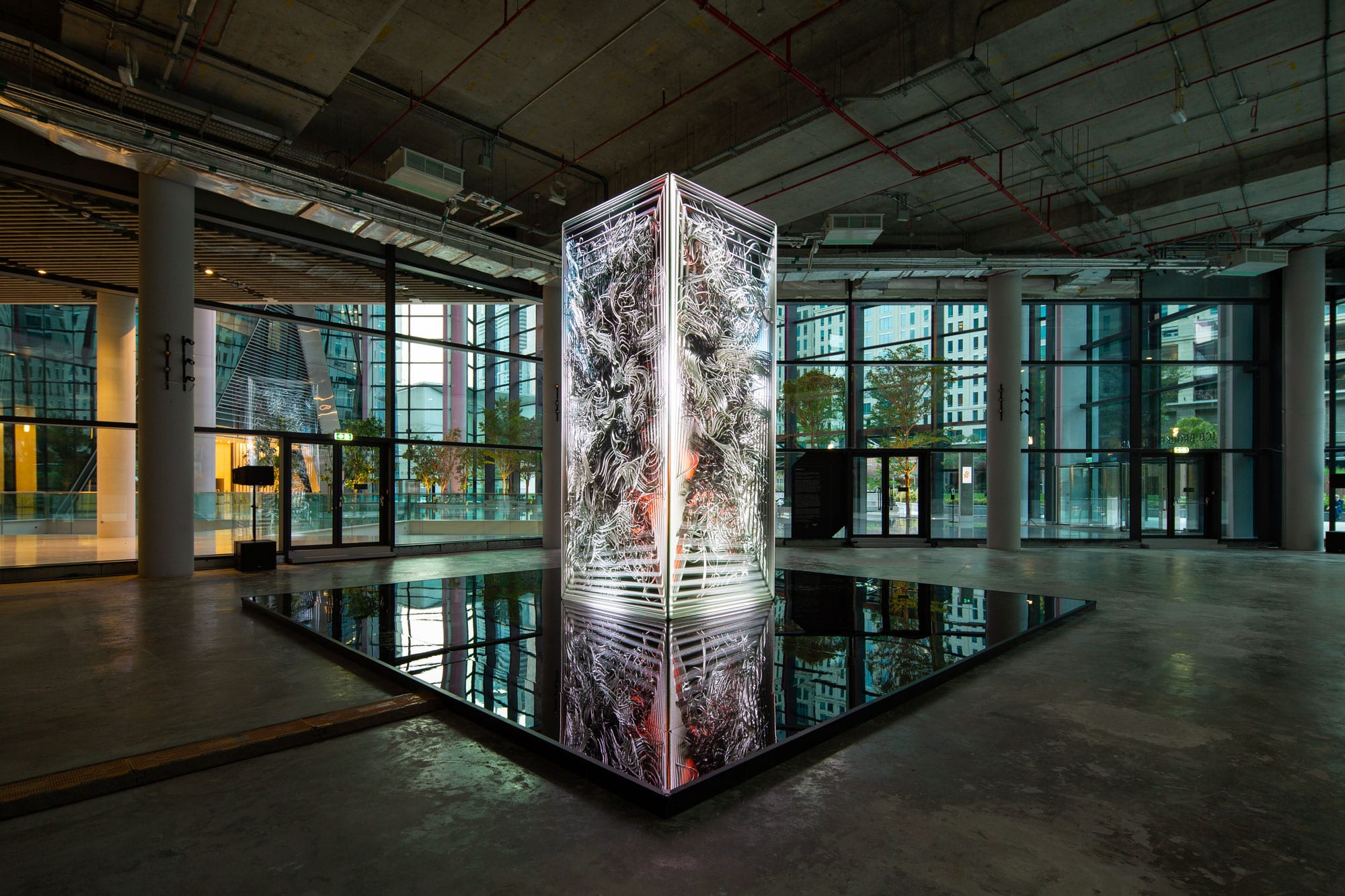 DATAMONOLITH_AI by Ouchhh curated and produced by MASSIVart for ICD Brookfield Place Dubai