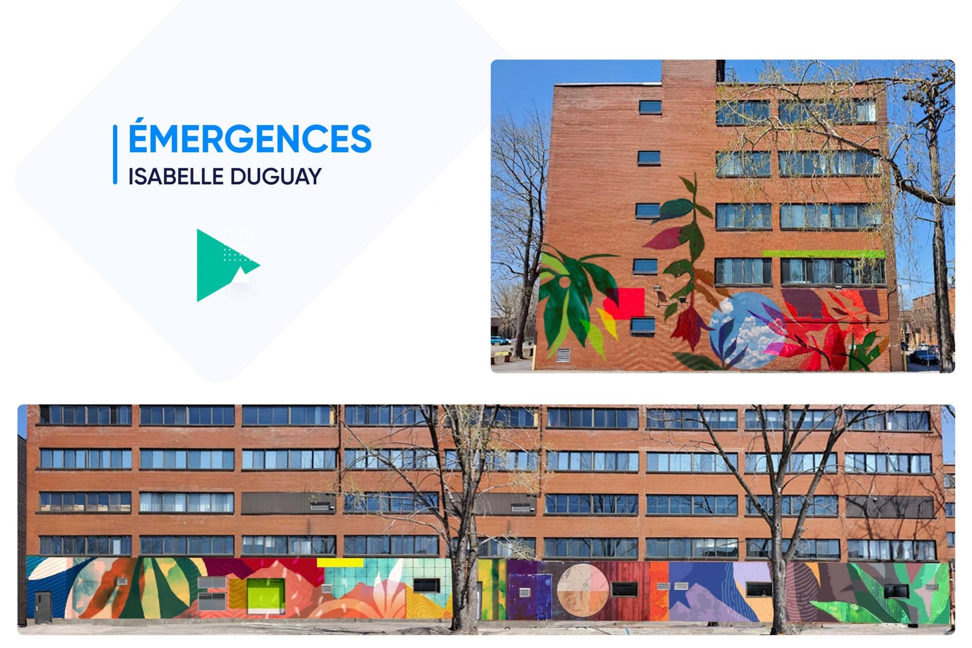 Émergences de Isabelle Duguay - Canderel 6600 St Urbain - Intégration artistique MASSIVart